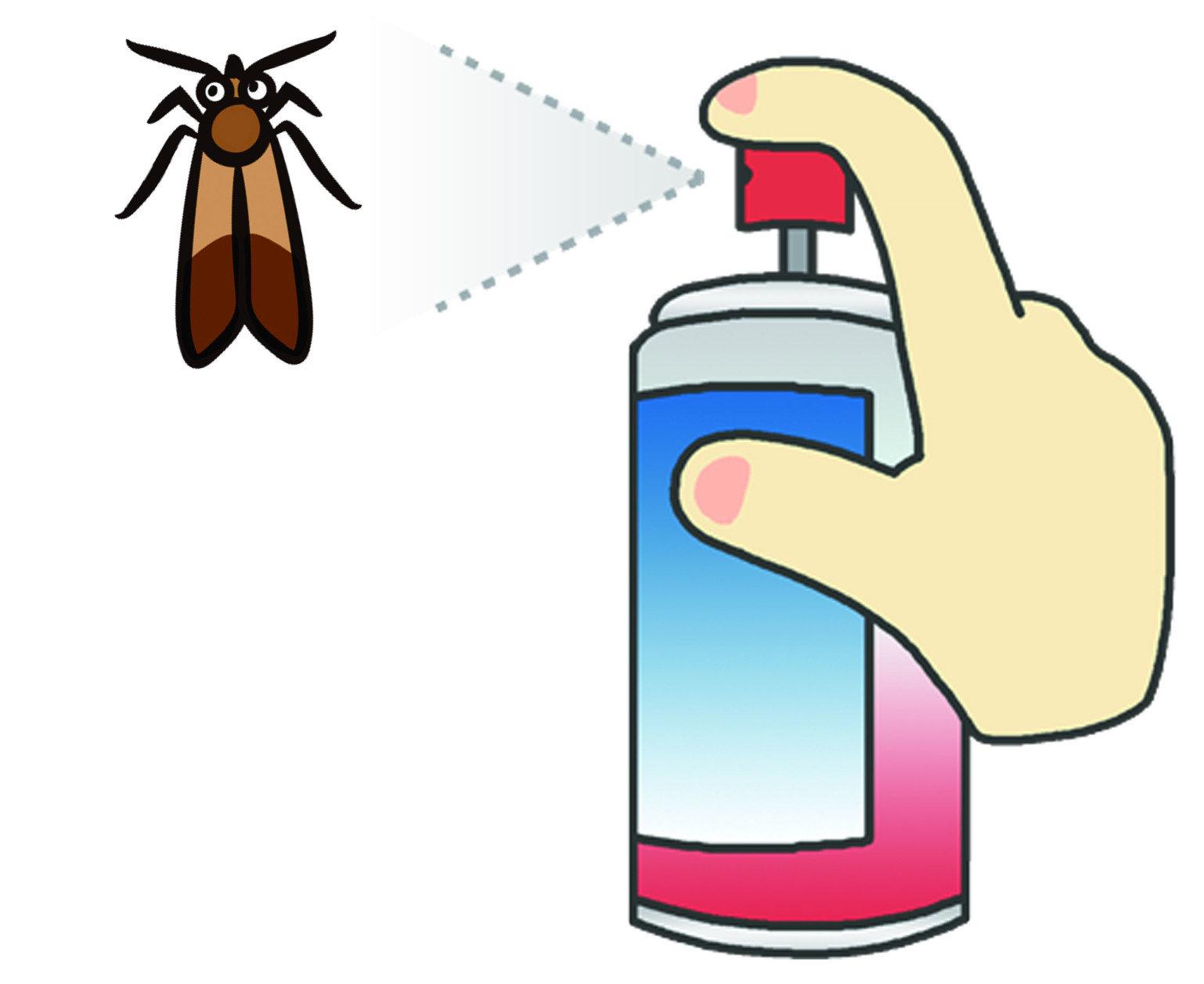 因為印度穀蛾多半生活在糧食堆中,當家中、穀倉面對此蟲危害時,絕對不能使用大家面對害蟲時,習慣使用的殺蟲劑。儘管這類殺蟲劑大家都能輕易購買使用,也確實能殺死大部分害蟲。